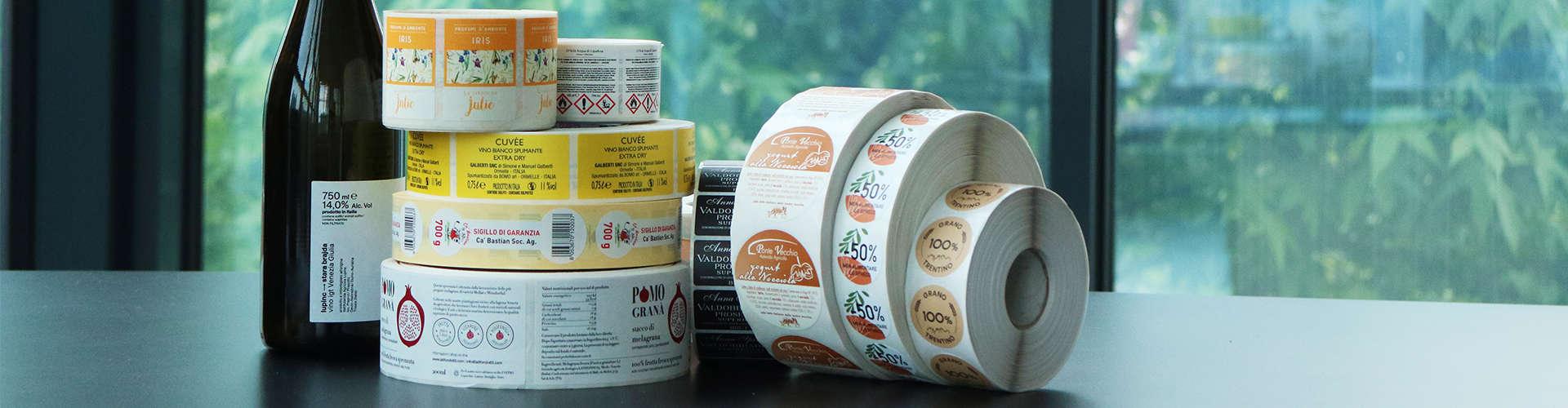 Stampa etichette adesive personalizzate online