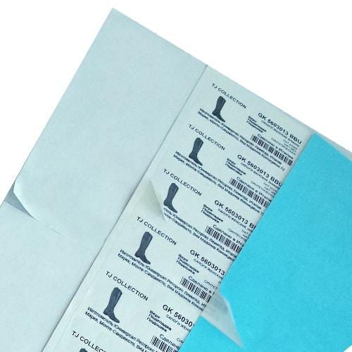 etichette neutre a fogli adesivi anche colorati