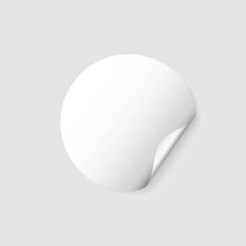 etichette neutre ovali
