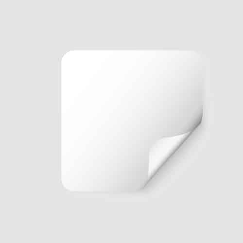 etichette neutre quadrate