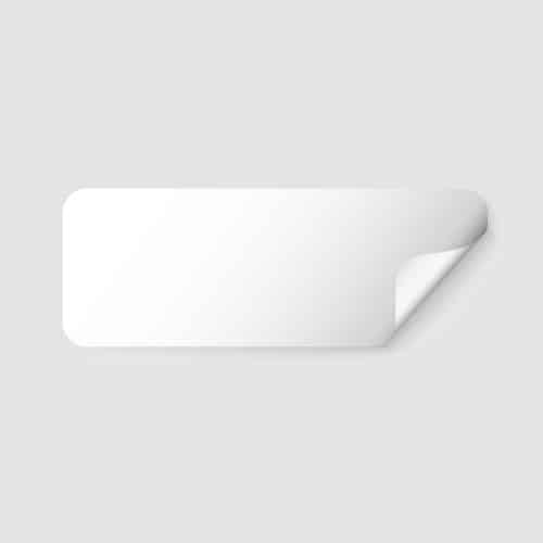 etichette neutre rettangolari
